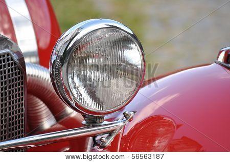 Car headlight, vintage car headlight