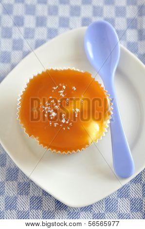 Small Caramel Cheesecakes with fleur de sel