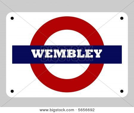 Wembley Stadium Sign