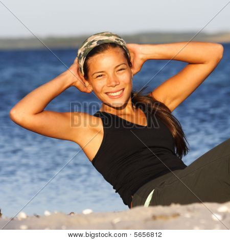 Woman Doing Outdoor Exercise
