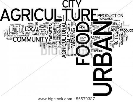 Word cloud - urban food