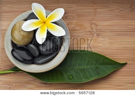 Spa Still Life Background, With Massage Stones