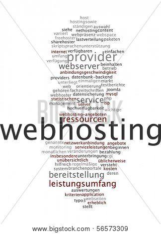 Word cloud - webhosting