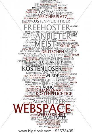 Word cloud - webspace