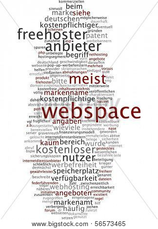 Nube de palabra - webspace