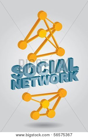 Social Network - Abstract Illustration