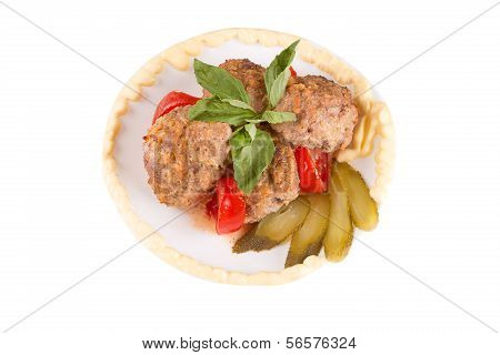 Lula Lamb And Tomato On A Plate