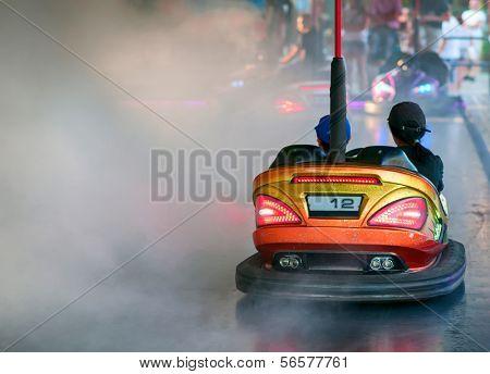 Bumper Car in an amusement park