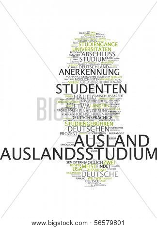 Word cloud - studying abroad