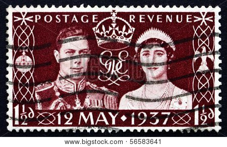 Postage Stamp Gb 1937 King George Vi And Queen Elizabeth