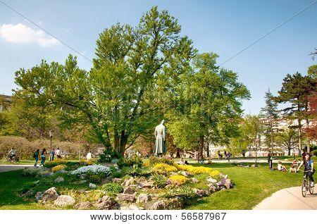 Landmark of Vienna, Austria. Burggarten in Vienna, Austria