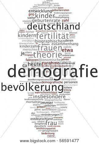 Word cloud - demography
