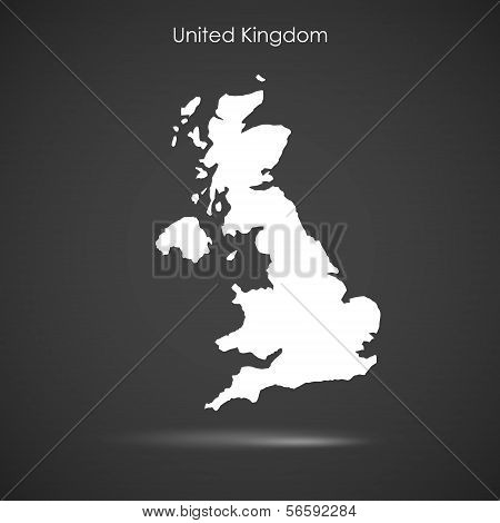 Silhouette Of England Over Grey Background. Vector Design