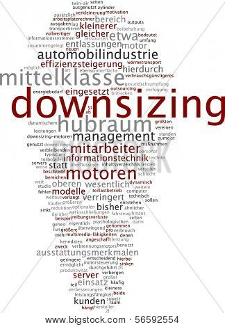 Word cloud - downsizing