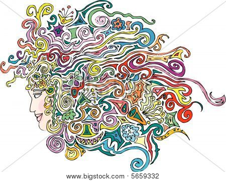 Color Floralhair