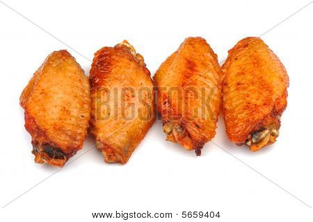 chicken wings isolated on white background