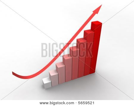 Red Business 3D Graph