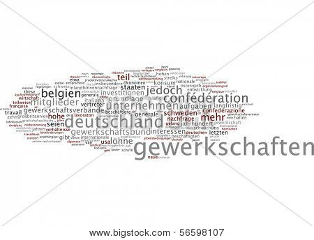 Word cloud - union
