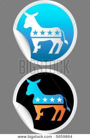 Demokrat Aufkleber