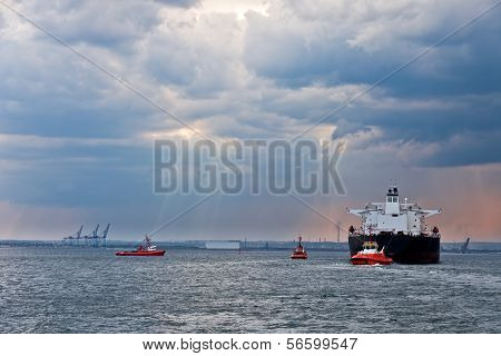 Tanker At The Sea