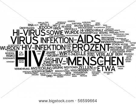 Word cloud -  HIV