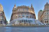 image of genova  - We are in the most important square in Genova in front of the ducal palace - JPG