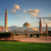 stock photo of oman  - Grand Mosque of Muscat  - JPG