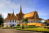 stock photo of royal palace  - Royal Palace at Phnom Penh - JPG