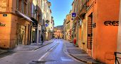 SAINT TROPEZ - NOV 2008: Shopping street in Saint Tropez in Saint Tropez, C�?�´te d'Azur, France,