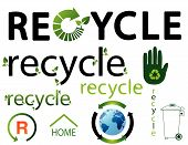 image of environmentally friendly  - Vector set of environmental recycling icons illustration - JPG