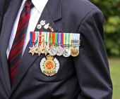 stock photo of hitler  - Military award medals of a world war 2 war veteran - JPG