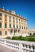 stock photo of schoenbrunn  - Facade of Schonbrunn Palace in Vienna - JPG