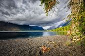 Lake Mcdonald On A Cloudy Day
