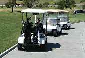 pic of boggy  - golf cart traffic - JPG