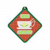 green kitchen potholder