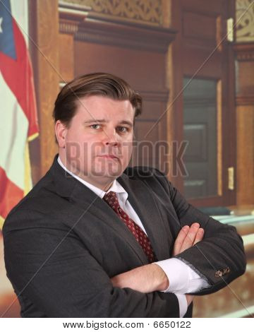 Attorney In A Courtroom