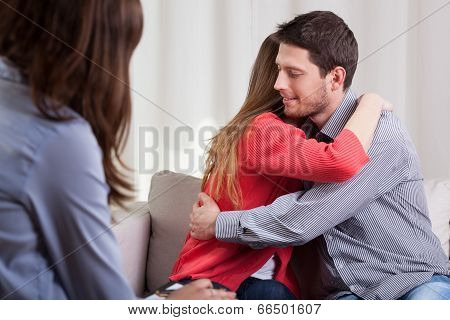 Young Couple During Psychotherapy