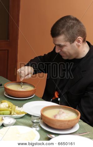 Man With Hash Soup