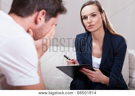 Psychotherapist During Work