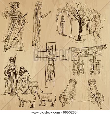 Religious No.10 - Vector Pack, Hand Drawings
