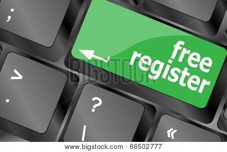 Free Register Computer Key Showing Internet Login