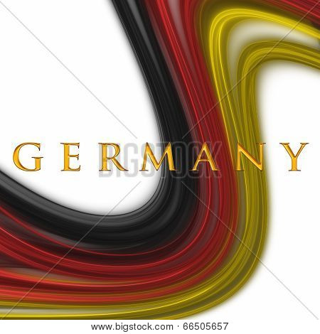 Illustrated Wave With German Colors For Sport Events
