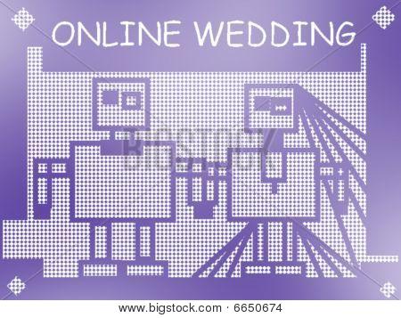 Online Wedding Joke Illustration