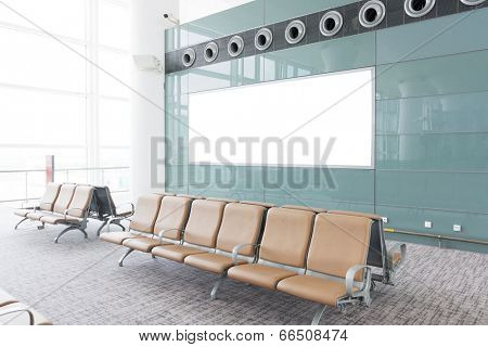 modern airport terminal waiting room