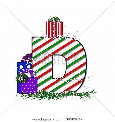 Alphabet Chrimassy Letters D