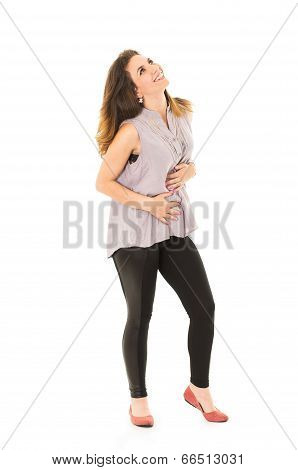 woman leggins posing