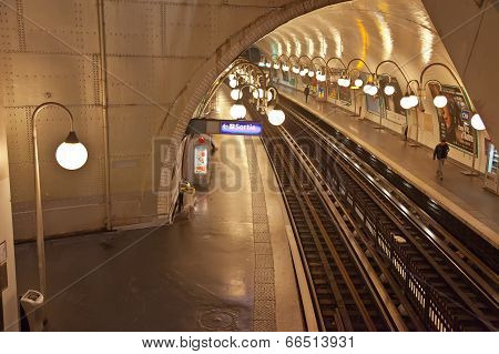 Paris. Cite Metro Station