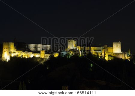 Magic Alhambra By Night.