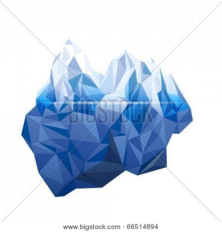 Iceberg in low poly style