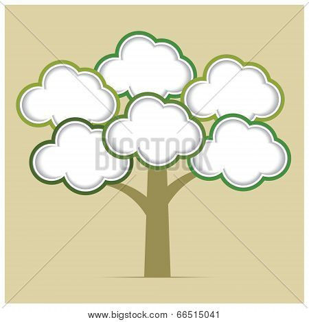 Abstract tree infographics elements. Design Template.